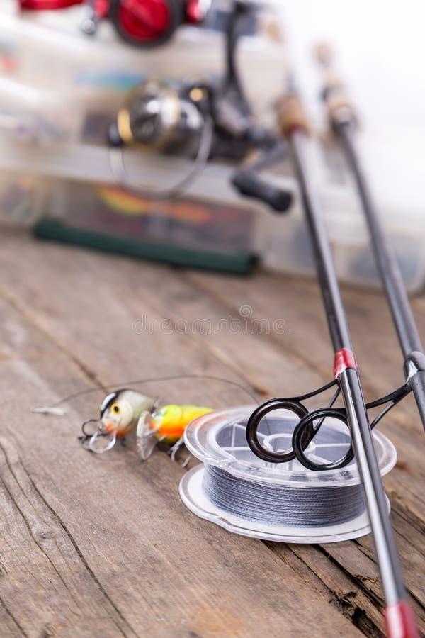 Guidi gli anelli sui coni retinici della grafite e sul cavo watted fotografie stock libere da diritti