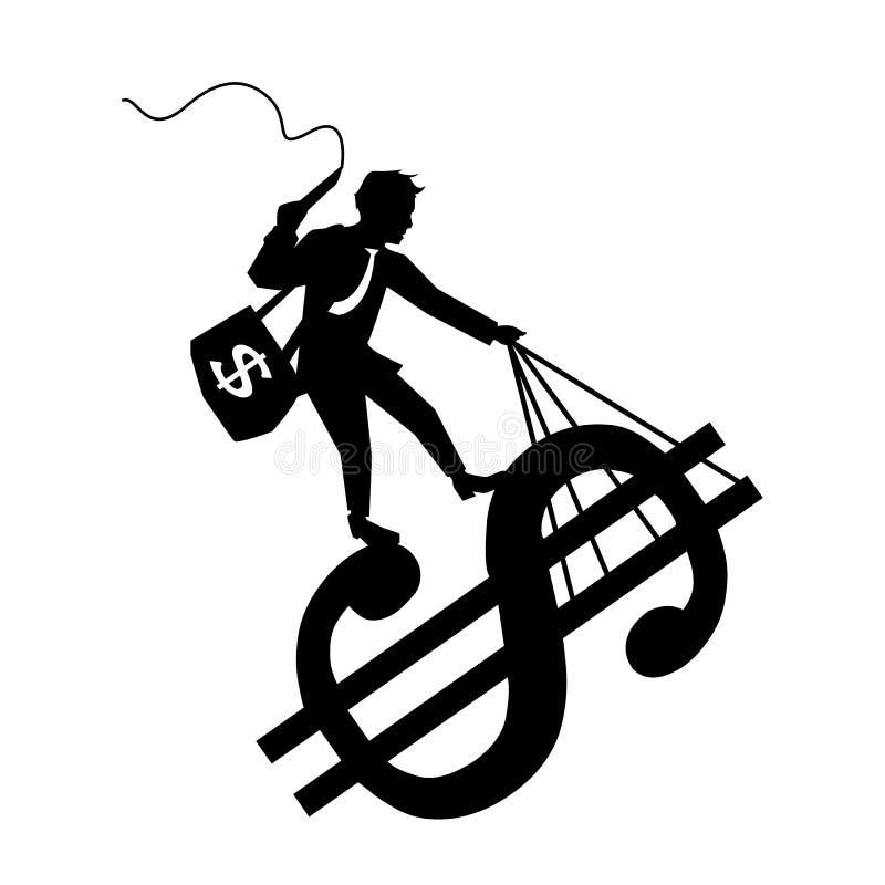 Guidi i soldi illustrazione vettoriale