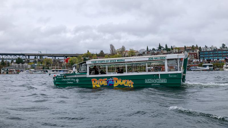 Guidi le anatre, programma facente un giro turistico di giro della città a Seattle, Washington fotografie stock libere da diritti