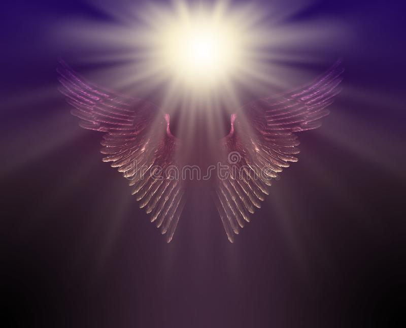 The Guiding Light of Your Guardian Angel royalty free stock photo