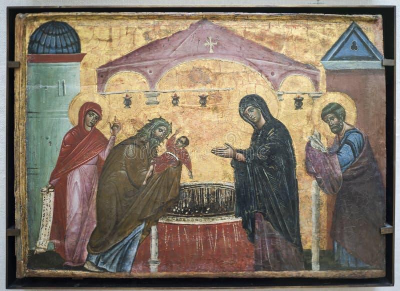 Guido Da Siena naturalezas La presentación en el templo alrededor imagen de archivo libre de regalías