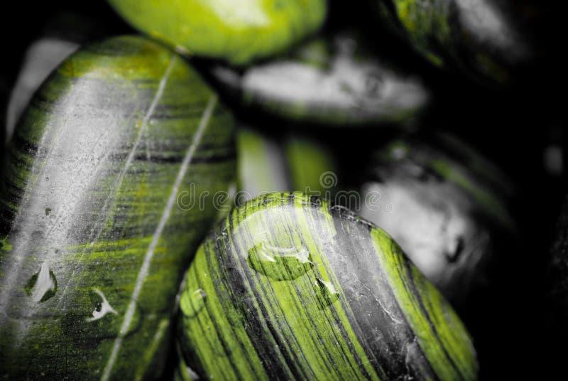 Guijarros verdes imagen de archivo
