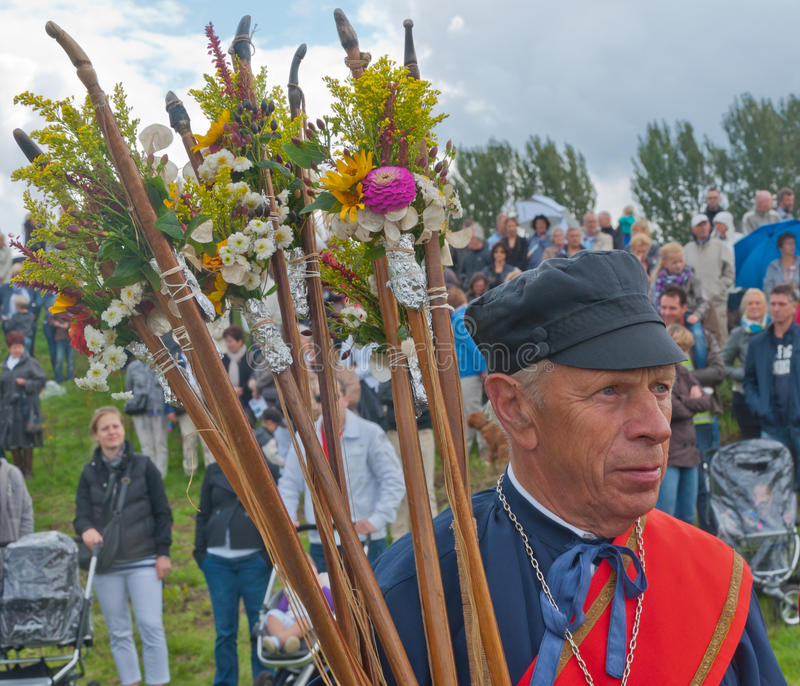 Guild Festival in the Dutch village of Terheijden. Guild Festival to mark the 460 anniversary of the Archers Guild of St. Antonius Abt from the Dutch village of royalty free stock photos