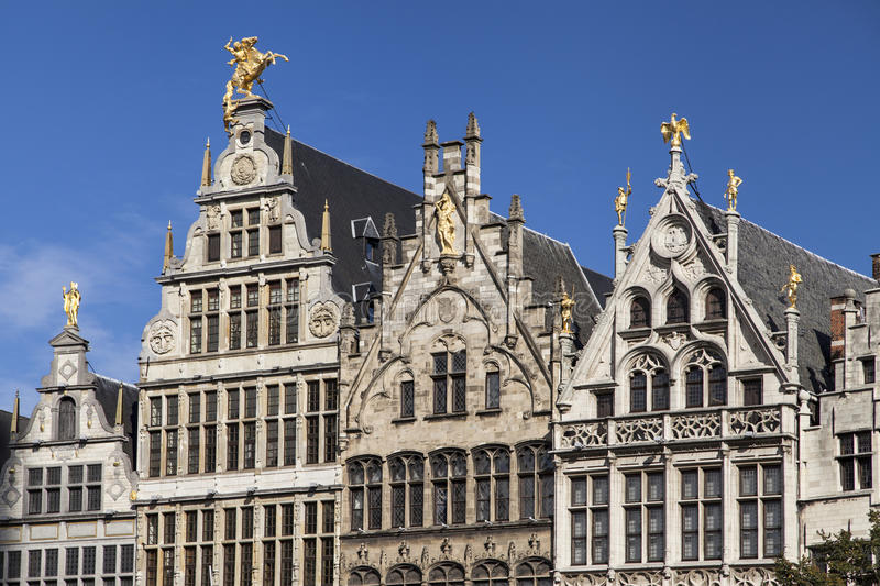 Guild Houses in Antwerp stock photography