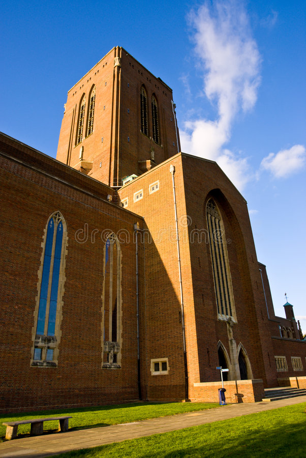 Guildford Cathedral. Surrey. royalty free stock photos