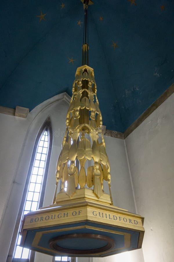 Guildford chrzcielnicy Katedralny baldachim fotografia stock