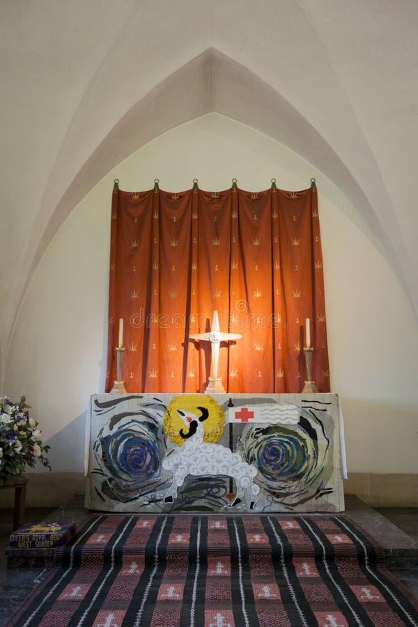 Guildford Katedralna kaplica królowej Surrey Królewski pułk zdjęcie stock