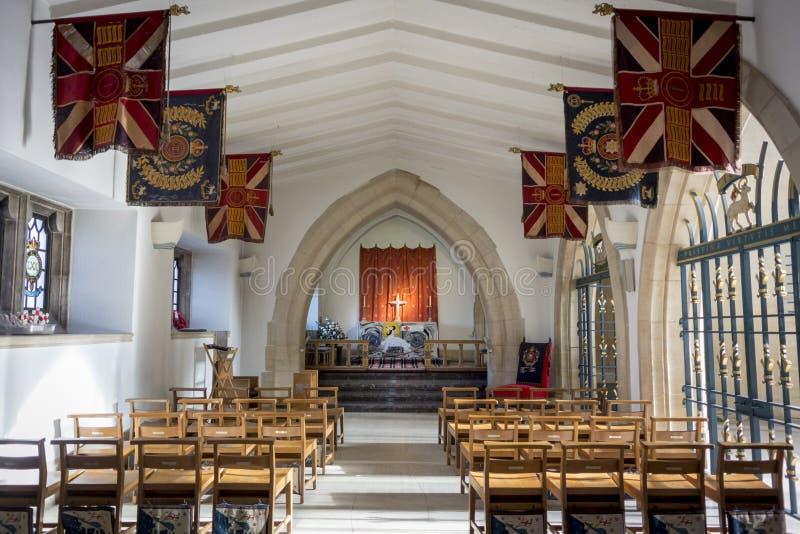 Guildford Katedralna kaplica królowej Surrey Królewski pułk fotografia royalty free