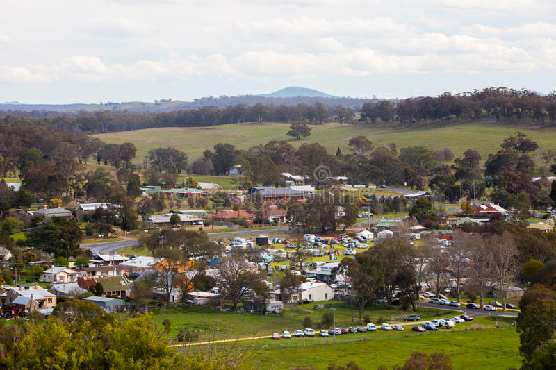 Guildford. The town of Guildford in the Victorian goldfields region of Victoria, Australia royalty free stock photos