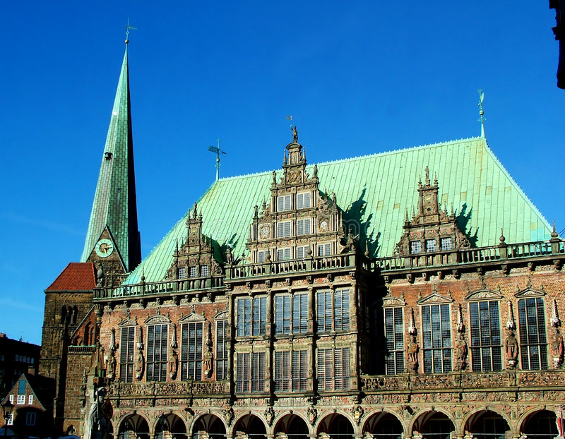 Download Guildhall in Bremen stock photo. Image of famous, north - 115220