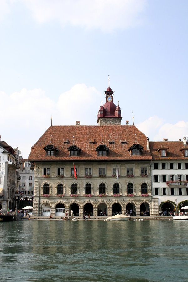 Guildhall in Luzern royalty free stock image