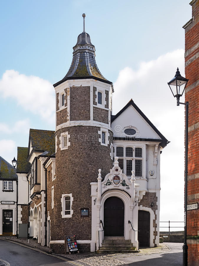 Guildhall - Lyme Regis arkivfoton