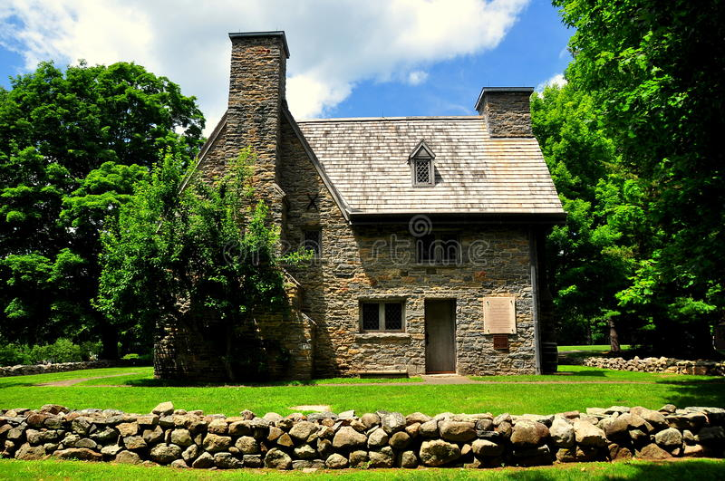 Guilford, CT: Henry Whitfield House 1639 und Museum stockbild