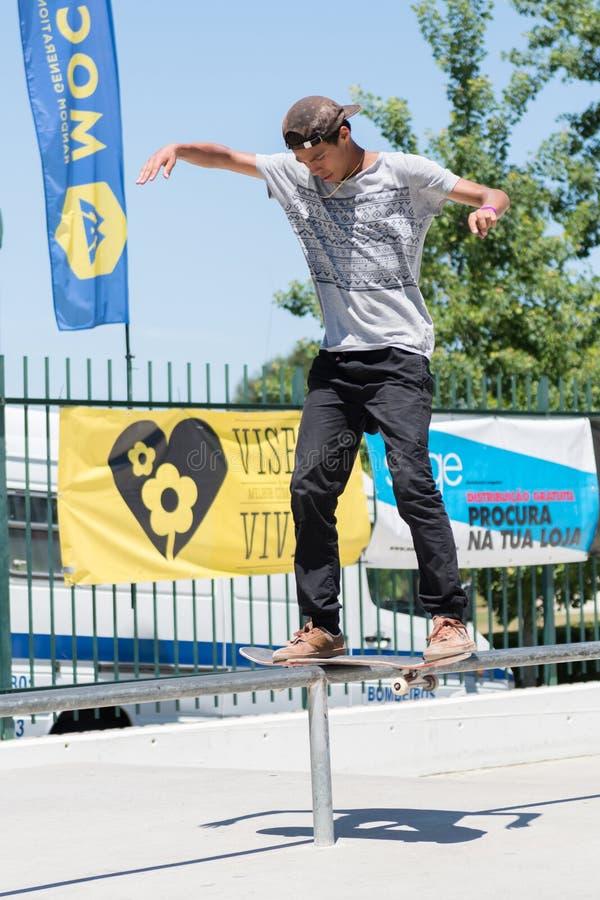 Guilherme Durand во время возможности конька DC стоковая фотография