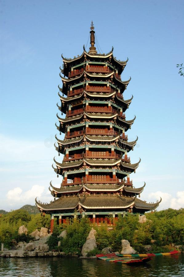 Free Guilin, China: Moon Pagoda On Shan Hu Lake Stock Image - 26090081
