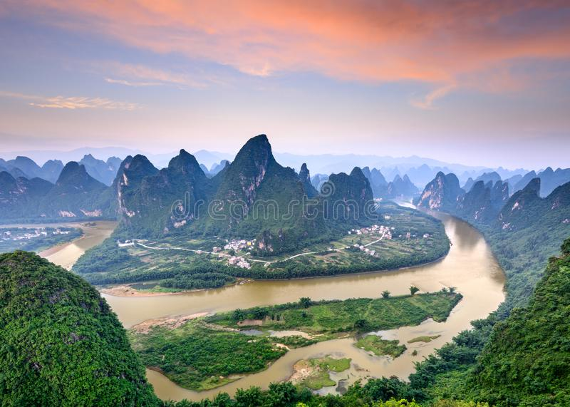 Karst Mountains in Guilin, China royalty free stock photos
