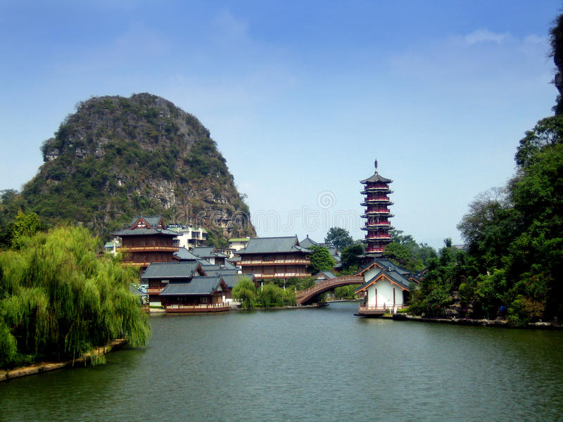 Guilin landscape. Guilin City landscape, in the South-East of China royalty free stock photos