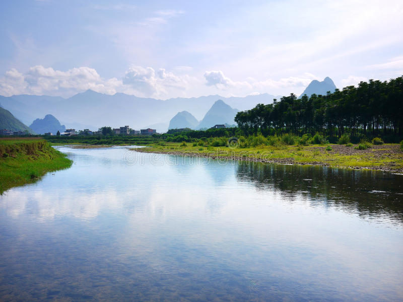 Guilin Landscape. In the morning, south of China royalty free stock photos
