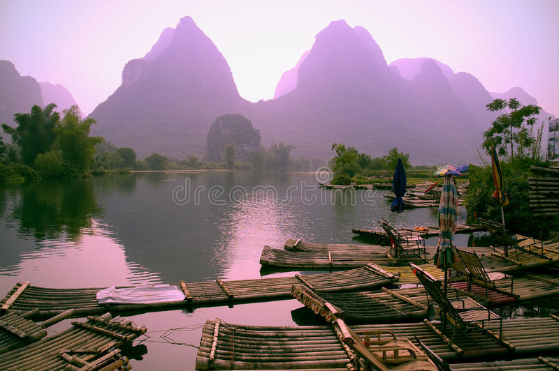 Guilin landscape royalty free stock images