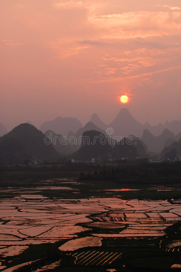 Guilin landscapes stock photo