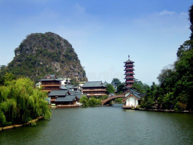 Guilin-Landschaft lizenzfreie stockfotos