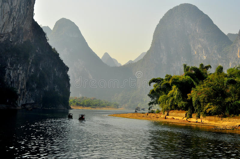 Guilin-Landschaft 005 stockbild