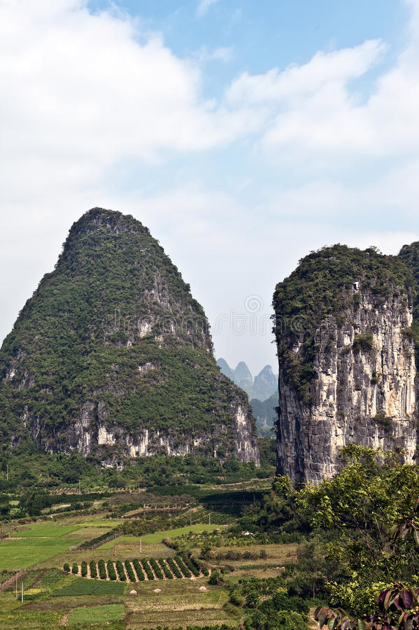Guilin Mountains, China Royalty Free Stock Photo