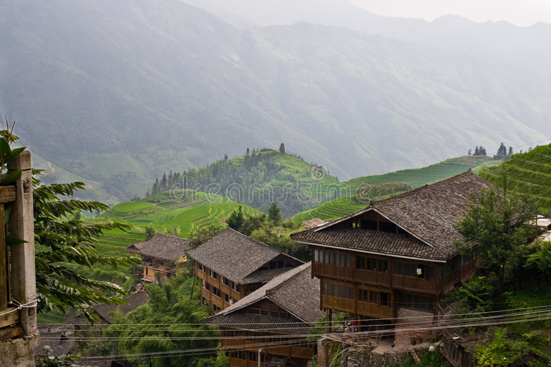 Guilin Rice Field Terrace royalty free stock image