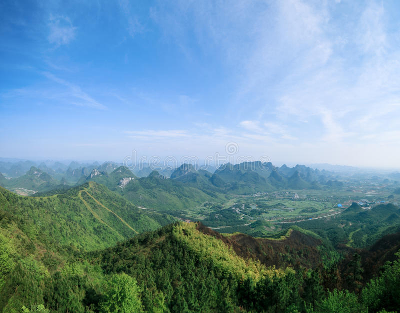 guilin wzgórza park yaoshan obraz stock