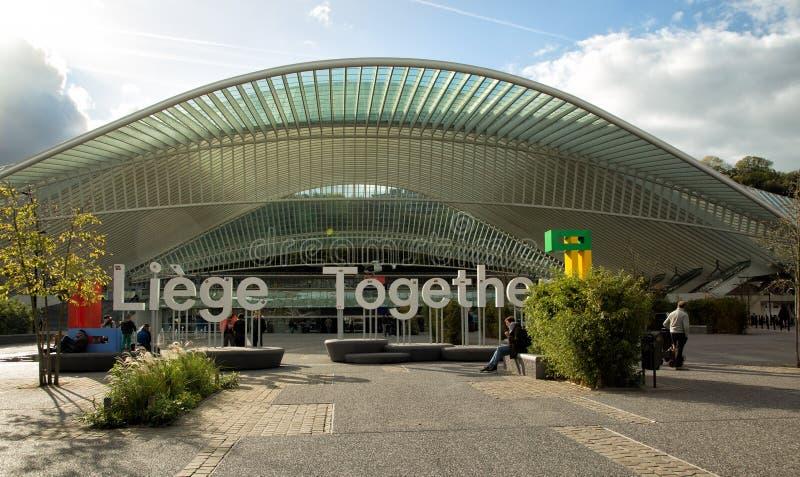 Guilleminsstation in Luik in Brussel stock afbeeldingen