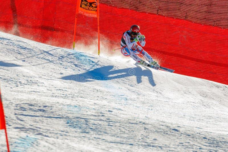 Guillermo adaptado em Audi FIS Ski World Cup alpino - o Downhil dos homens imagem de stock