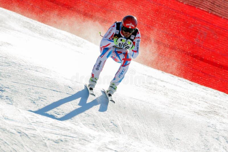 Guillermo adaptado em Audi FIS Ski World Cup alpino - o Downhil dos homens fotos de stock