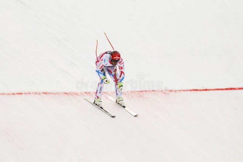 Guillermo ADAPTADO em FIS Ski World Cup alpino - o SUPER-G dos ?ns HOMENS imagem de stock royalty free