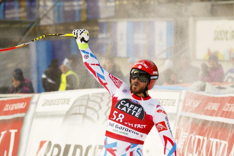Guillermo ADAPTADO em FIS Ski World Cup alpino - o SUPER-G dos ?ns HOMENS foto de stock royalty free