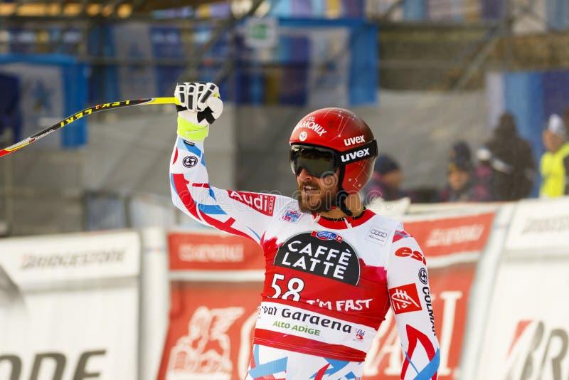 Guillermo ADAPTADO em FIS Ski World Cup alpino - o SUPER-G dos ?ns HOMENS fotografia de stock royalty free