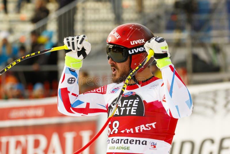 Guillermo ADAPTADO em FIS Ski World Cup alpino - o SUPER-G dos ?ns HOMENS fotos de stock royalty free