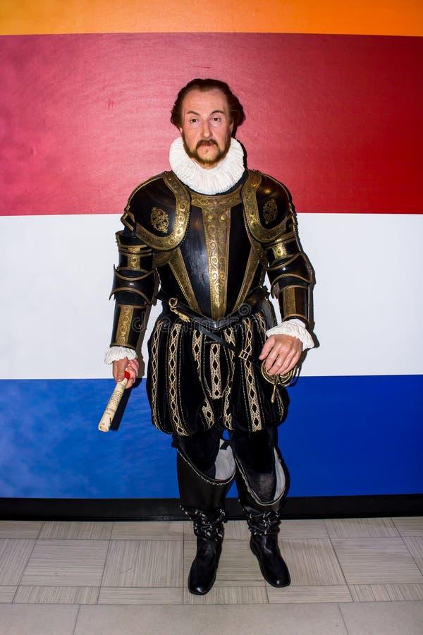 Guillermo de la naranja, figura de cera, Amsterdam de señora Tussaud fotos de archivo