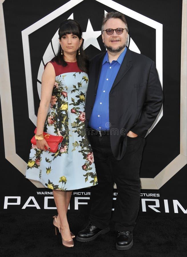 Guillermo del Toro y Lorenza Newton fotos de archivo libres de regalías