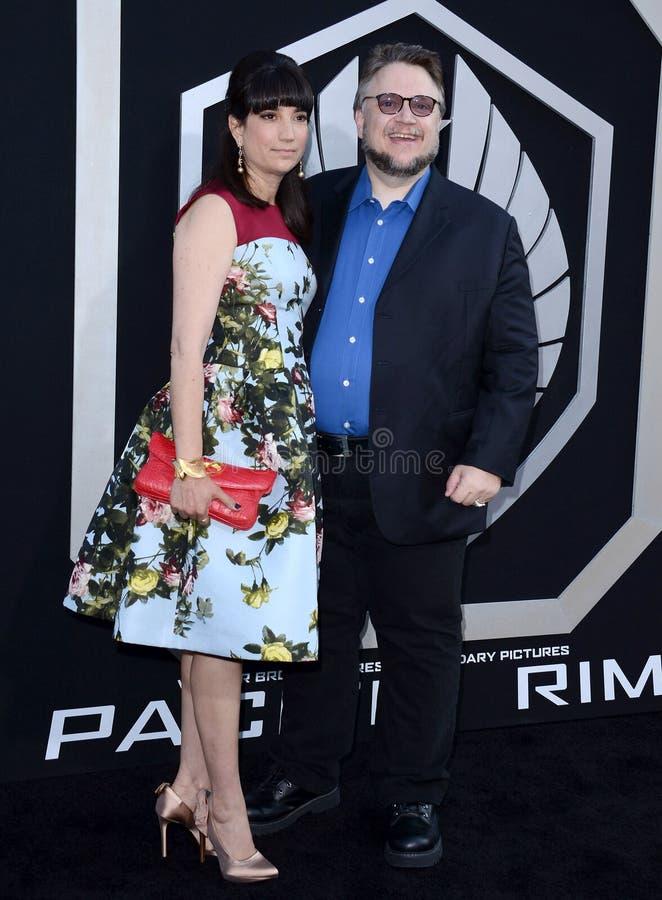 Guillermo del Toro y Lorenza Newton imágenes de archivo libres de regalías