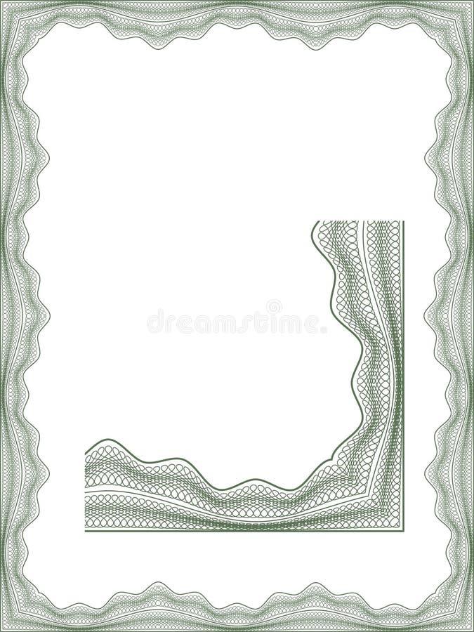 guilloche диплома граници иллюстрация штока