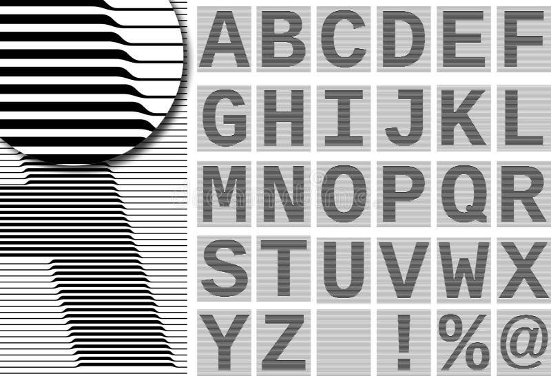 Guilloche alphabet stock illustration