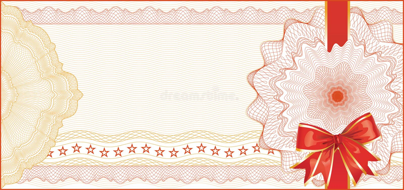 Guilloche Background for Gift Certificate stock illustration