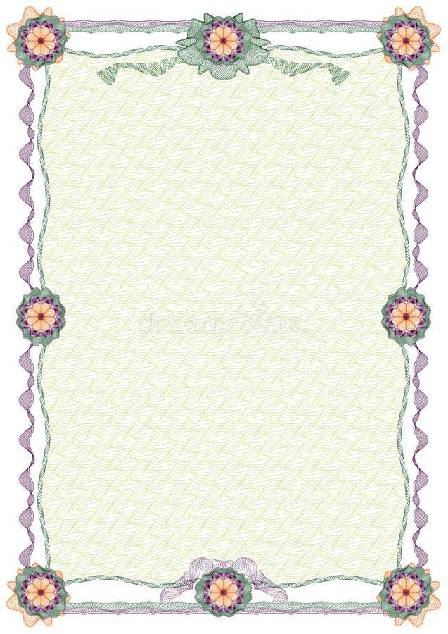 Guilloche: beira decorativa e fundo ilustração royalty free