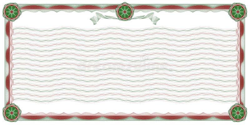 Guilloche: beira decorativa e fundo ilustração do vetor