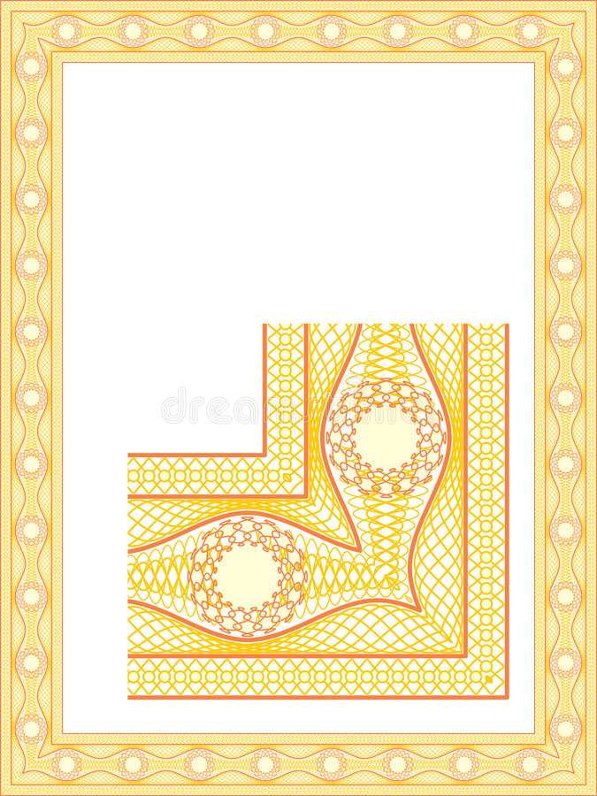 Guilloche border for diploma vector illustration