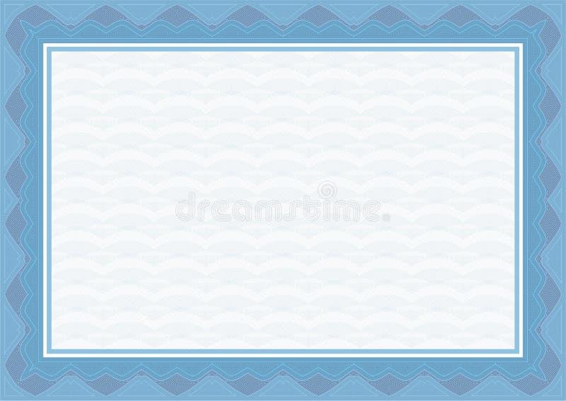 Guilloche border for diploma or certificate stock illustration