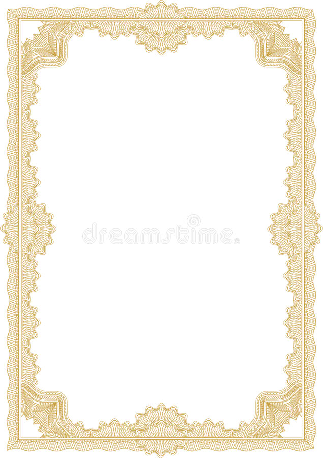 Free Guilloche Border For Diploma Or Certificate Royalty Free Stock Photo - 4279425