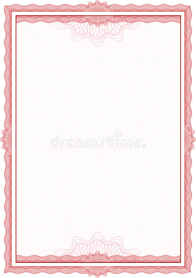 Free Guilloche Border For Diploma Or Certificate Royalty Free Stock Photos - 4283948