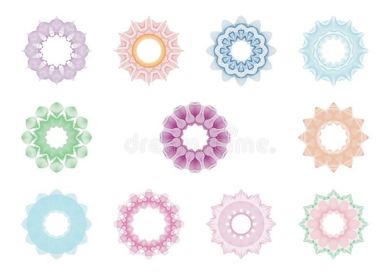 Guilloche Circle frame vector illustration