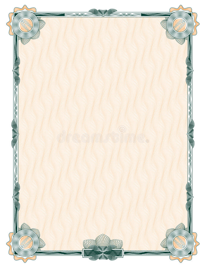 Guilloche: Classic Decorative Frame Royalty Free Stock Image